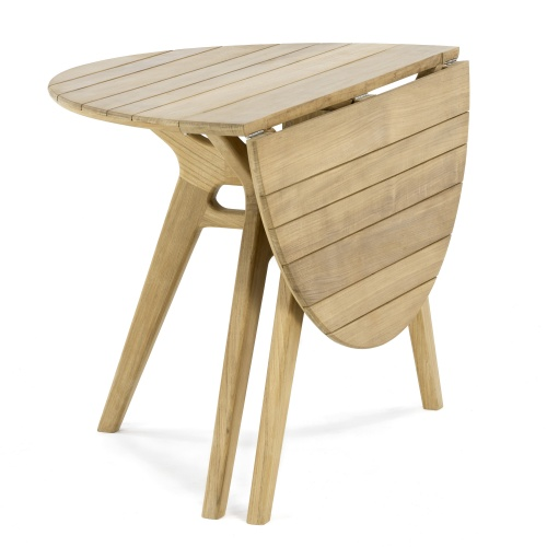 teak marine folding table