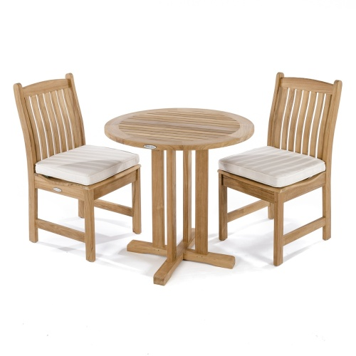 3 Pc teakwood dinette round table set