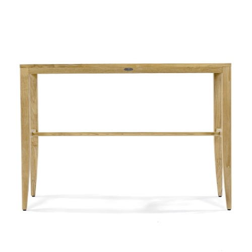 teak outdoor console table with brace