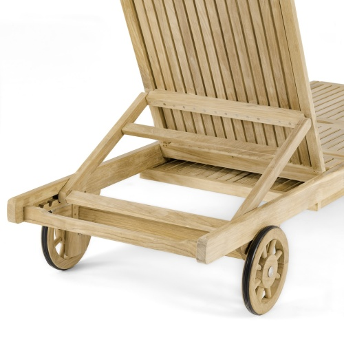 Patio Sun Lounger with Wheels