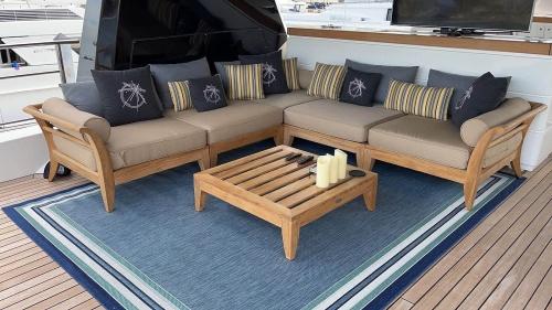 deep seating teak furniture sets