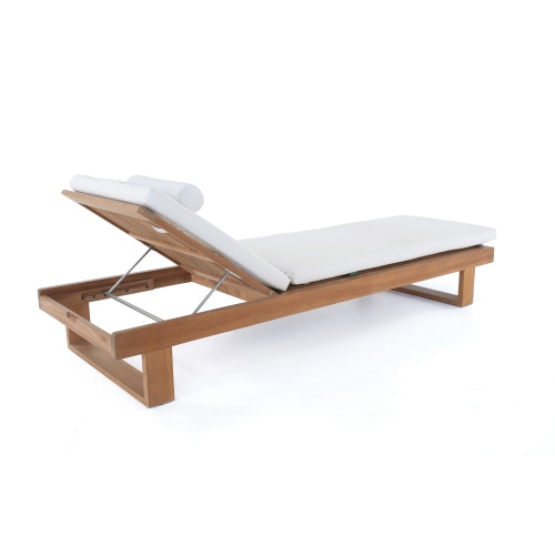 teak patio chaise loungers