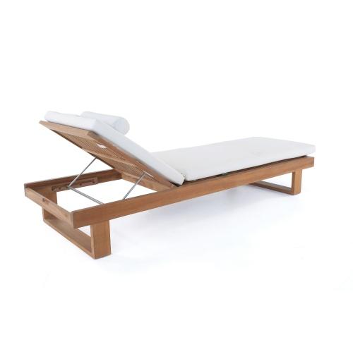 teak wood deck loungers