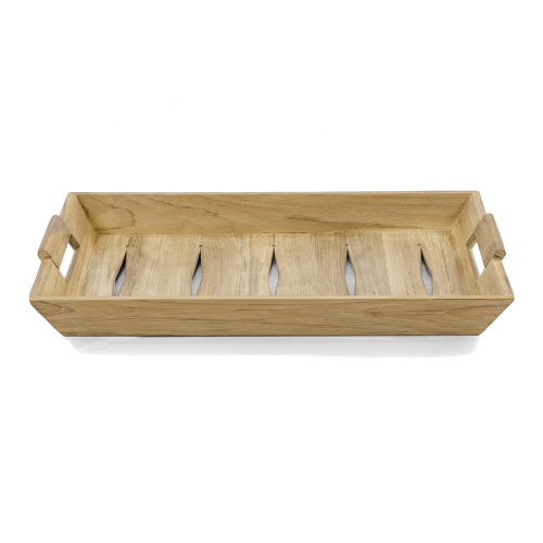 teak wooden serving tray