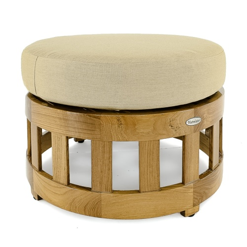 teak lounge foot stool