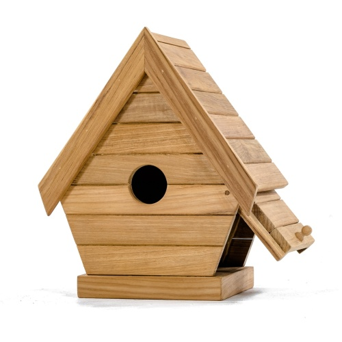 Wooden Birdhouse Pole