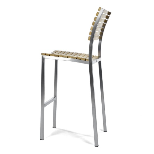 slatted outdoor barstools