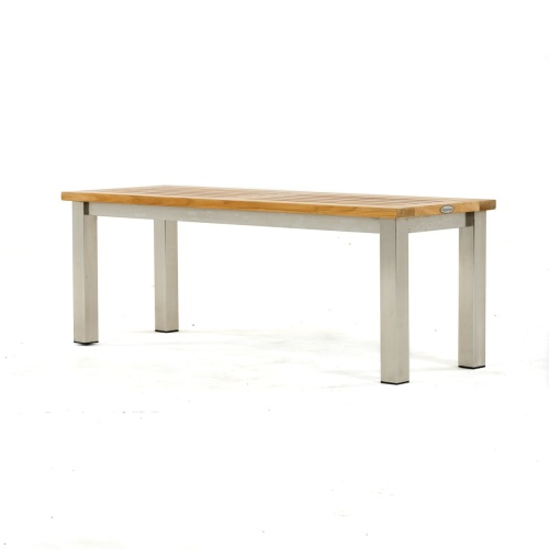 Patio Wood Bench Backless