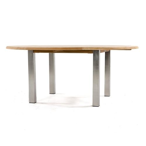 72 round teak dining table