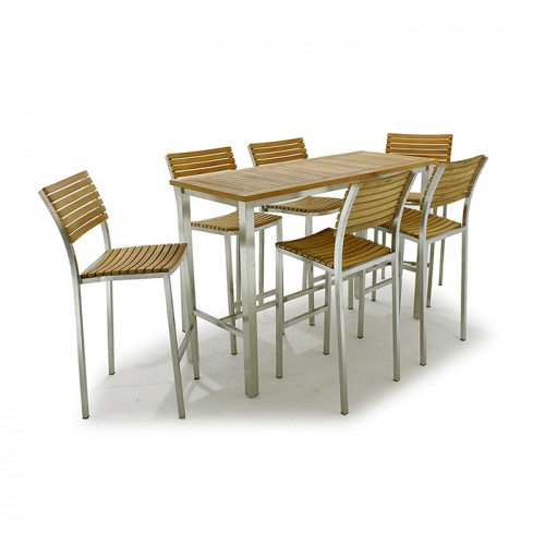 teak bar height tables outdoor
