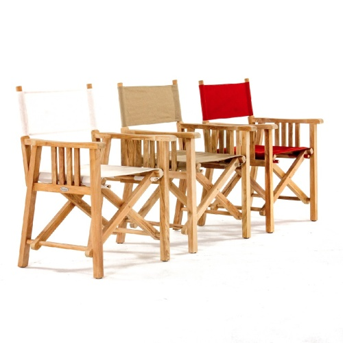 wooden sling chair