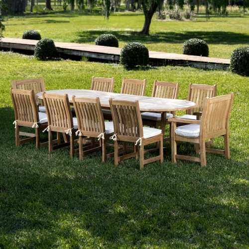11 piece oval table and chairs
