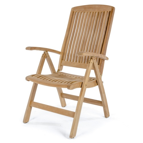 Folding Teak Recliner Chair