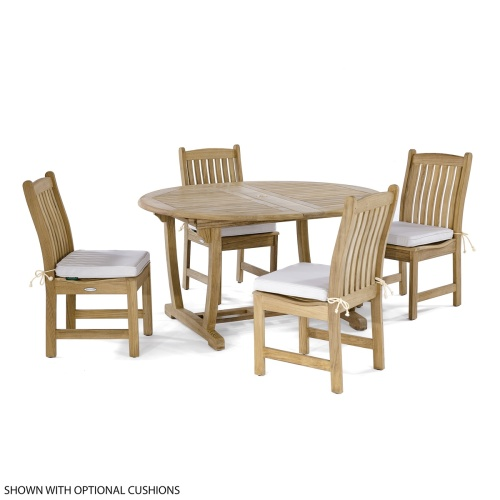 oval dining extension set oudoor teakwood