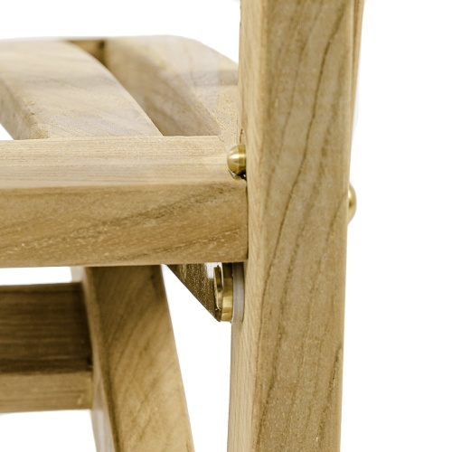 solid teakwood folding chair