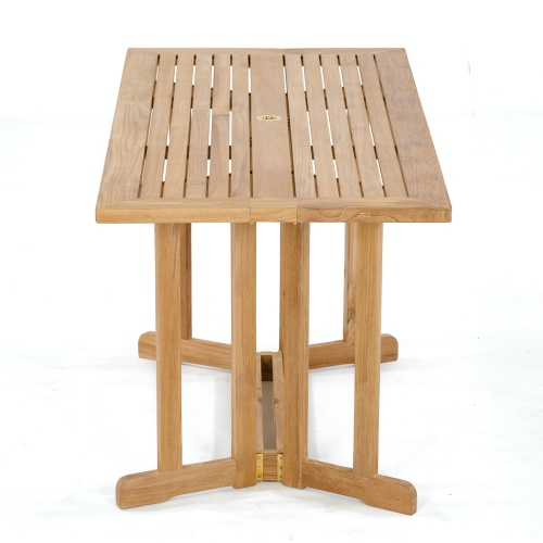 marine teak folding table