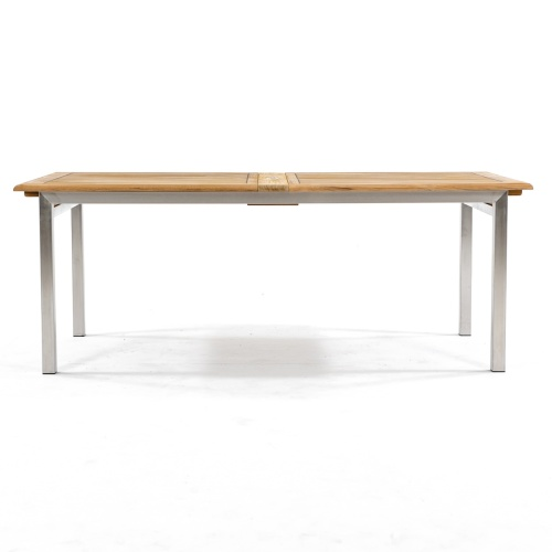 teak and metal expanding table