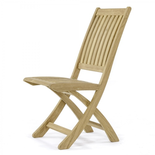 barbuda folding teak side chair