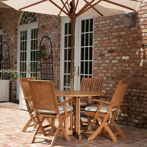 teak folding dining chair patio