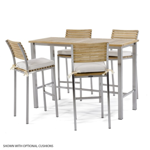 wood stainless steel bar set 4
