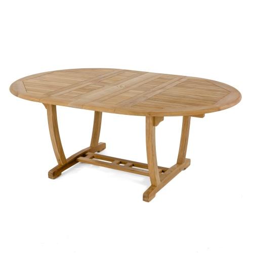 grade a teak oval extendable table