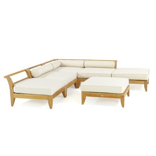 teak patio furniture outdoor sectional