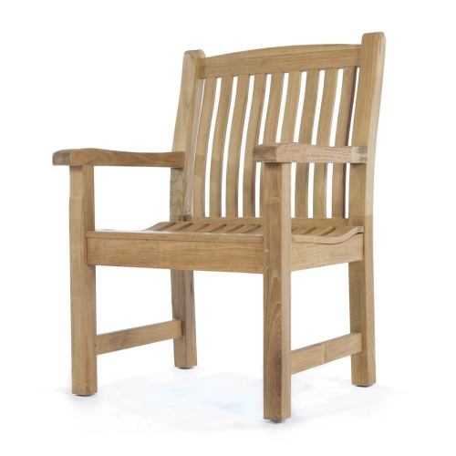 lumbar support teak armchairs
