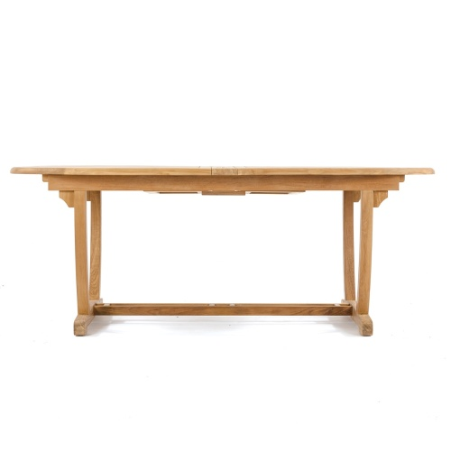 extension teak dining table outdoor
