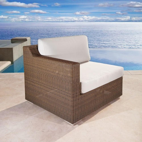 sectional wicker deep seating sectional
