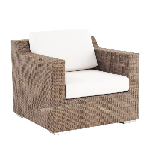 deep seating wicker armchair