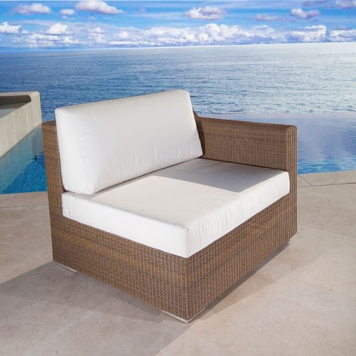 wicker corner sectional with cushions