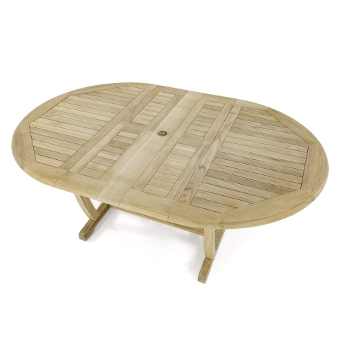 teak extendable oval dining table