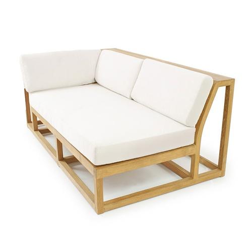 sofa teak wooden sectional