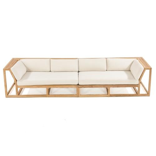 teak wood outdoor sofa sectionals