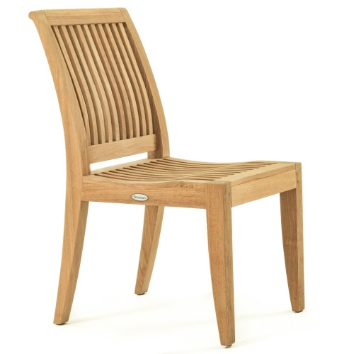 teak fixed side chair outdoor