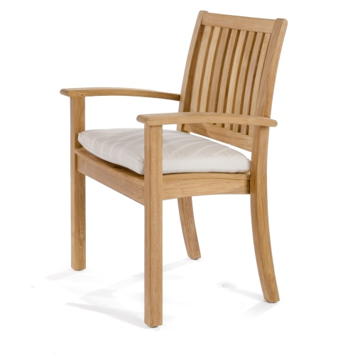 stacking teakwood chairs
