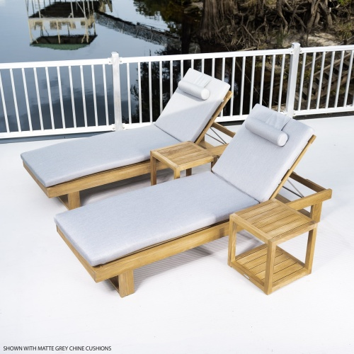 Chaise loungers outdoor teakwood