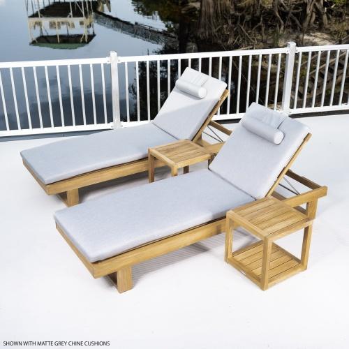 chaise outside garden deck