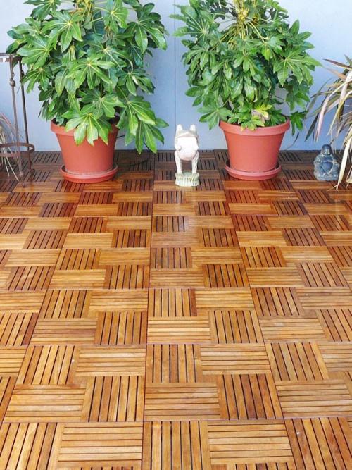 outdoor teak deck