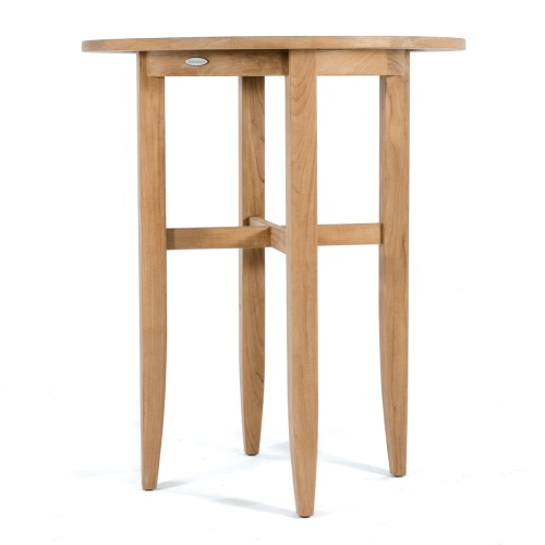 outdoor teak wood bar table