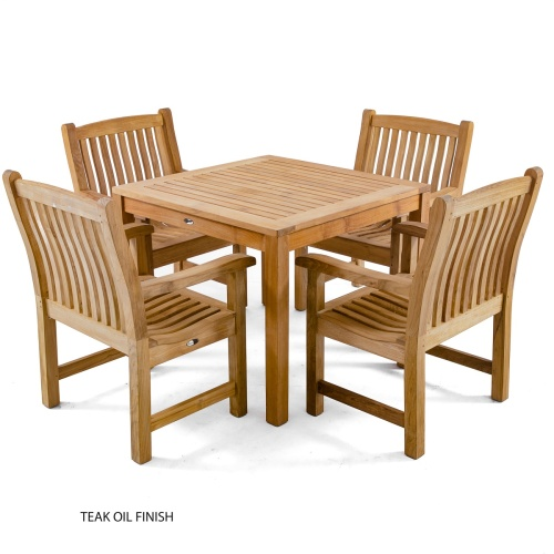 high end bistro sets in teak wood