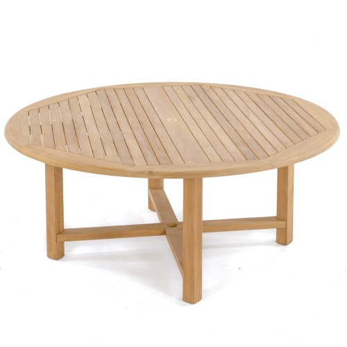 teak 6Ft round table for 8