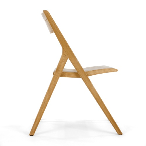 smooth teak wooden folding chair