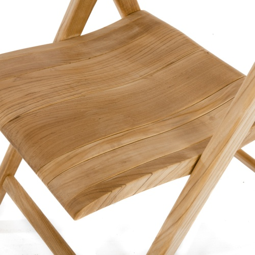 folding slat teak chair outdoor