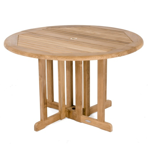 wooden folding round table