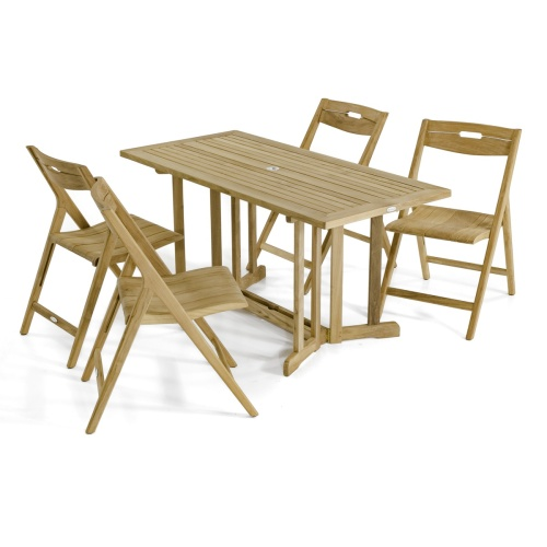 teak outdoor folding rectangular table and chairs