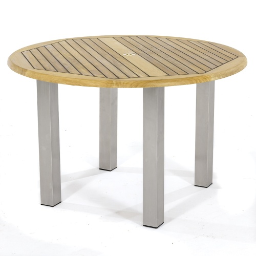 round teakwood dining table for 4 people