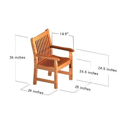 teak farmhouse arm chair