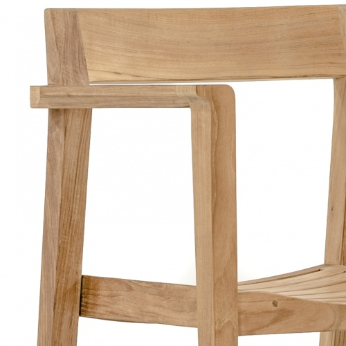 danish style teak wooden armchair outdoor