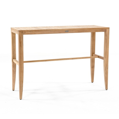 teak bar console table